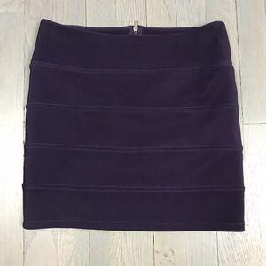 millau Plum Purple Short Mini Bandage Club Skirt